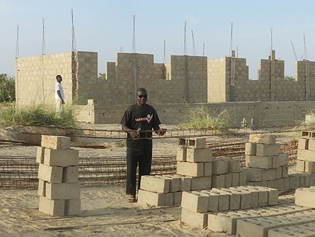Image of new school construction by Caravan To Class in the village of Koira in Mali