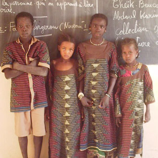 A small group of students in their
