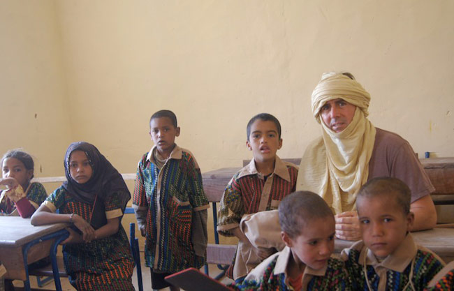 Caravan To Class Founder Barry Hoffner sits